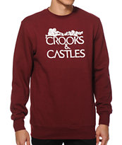 Crooks and Castles Bone Corps Crew Neck Sweatshirt