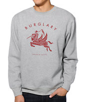 Crooks and Castles Burglary Grey Crew Neck Sweatshirt