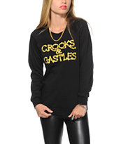 Crooks and Castles Chaining Day Crew Neck Sweatshirt