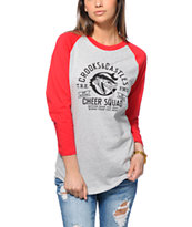 Crooks and Castles Cheer Squad Baseball T-Shirt