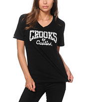 Crooks and Castles Core Logo Tag V-Neck T-Shirt