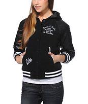 Crooks and Castles Crooks Black Hooded Varsity Jacket