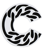 Crooks and Castles Cuban C Link Sticker