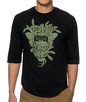 Crooks and Castles Digi Camo Medusa Baseball Tee Shirt