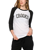 Crooks and Castles Femme Fatales Baseball Tee