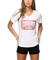 Crooks and Castles Floral Core Logo V-Neck T-Shirt