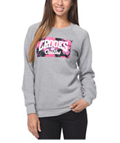 Crooks and Castles Flower Bomb Grey Crew Neck Sweatshirt