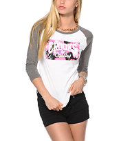 Crooks and Castles Flowerbomb Baseball Tee