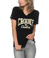 Crooks and Castles Fools Gold Core Logo V-neck T-Shirt