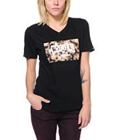 Crooks and Castles GNR Core Logo Black V-Neck Tee Shirt