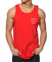 Crooks and Castles Getaway Red Tank Top