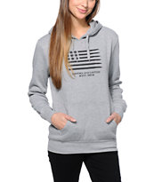 Crooks and Castles Girls Ammo Flag Grey Pullover Hoodie