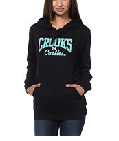 Crooks and Castles Girls Core Logo Black Pullover Hoodie