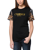 Crooks and Castles Girls Regalia Noir Black Tee Shirt