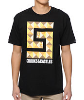 Crooks and Castles Greco Pyramid Black Tee Shirt