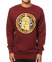 Crooks and Castles Jesus Piece Mosaic Crew Neck Sweatshirt