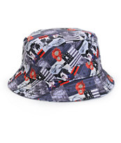 Crooks and Castles Killa Print Bucket Hat