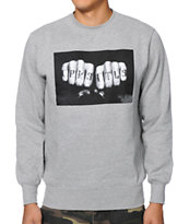Crooks and Castles Knuckle Grey Crew Neck Sweatshirt