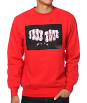 Crooks and Castles Knuckle Red Crew Neck Sweatshirt