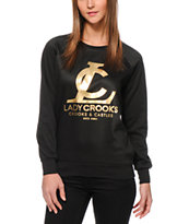 Crooks and Castles LC Gold Foil Crew Neck Sweatshirt