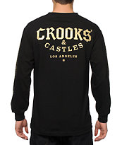 Crooks and Castles Logo Long Sleeve T-Shirt
