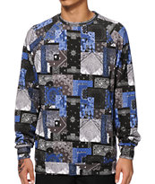 Crooks and Castles Luxe Bandit Sublimated Crew Neck Sweatshirt
