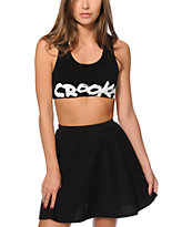 Crooks and Castles Medusa Tag Sports Bra