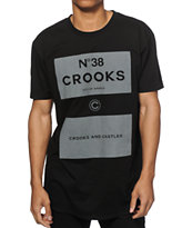 Crooks and Castles NO.38 Scallop Black T-Shirt