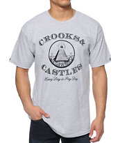 Crooks and Castles Payday Grey Tee Shirt