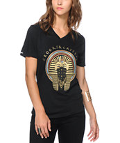 Crooks and Castles Pharaoh Black V-Neck Tee Shirt