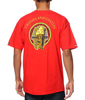 Crooks and Castles Pharaoh Leopard Red Tee Shirt
