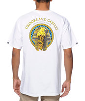 Crooks and Castles Pharaoh Leopard White Tee Shirt