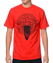 Crooks and Castles Primo Red Tee Shirt