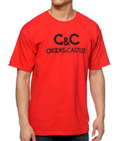 Crooks and Castles Regal Red Tee Shirt
