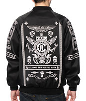 Crooks and Castles Ruling Elite Black Baseball Jacket