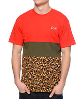 Crooks and Castles Run This Red, Green, & Leopard Tee Shirt