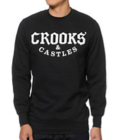 Crooks and Castles Ruthless Black Crew Neck Sweatshirt