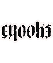 Crooks and Castles Script Sticker