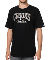 Crooks and Castles Snake Core Logo Black Tee Shirt