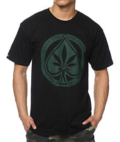 Crooks and Castles Spade Roller Black Tee Shirt