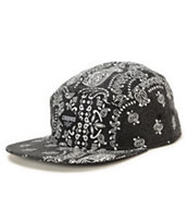 Crooks and Castles Squad Life Black 5 Panel Hat