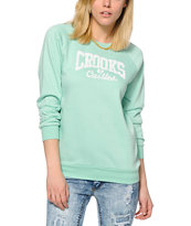 Crooks and Castles Squad Life Core Logo Crew Neck Sweatshirt