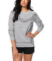 Crooks and Castles Squad Life Crew Neck Sweatshirt