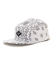 Crooks and Castles Squad Life White 5 Panel Hat