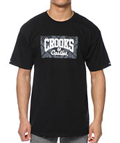 Crooks and Castles Squadlife Core Logo Black Tee Shirt