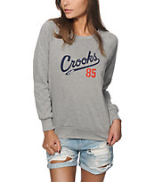 Crooks and Castles Starter Heather Grey Crew Neck Sweatshirt