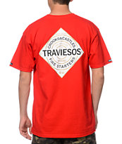Crooks and Castles Traviesos Red Tee Shirt