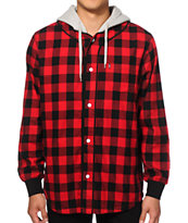 Crooks and Castles Tyrant Hooded Flannel