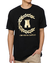 Crooks and Castles Victory Black Tee Shirt