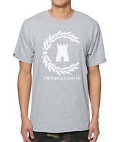 Crooks and Castles Victory Grey Tee Shirt